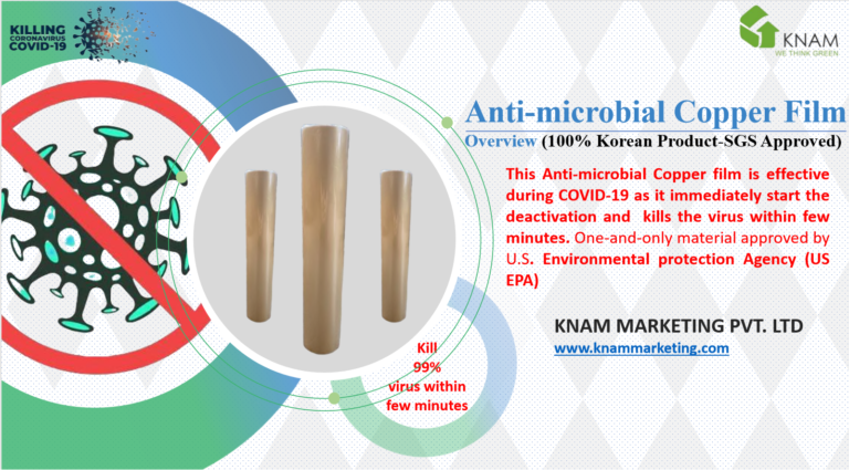 Anti microbial copper film